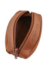 Leather Bart Purse Arthur et aston Brown bart 1978-209-vue-porte