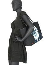 Tote Bag Karl Legend Karl lagerfeld Black ikonik 200W3016-vue-porte