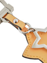 Longchamp Le pliage cuir Porte clés Bleu-vue-porte