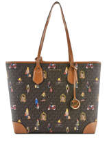 Sac Shopping Jet Set Girls Format A4 Michael kors Marron saddie H9GV0T30