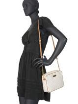 Leather Crossbody Bag Ginny Michael kors Beige crossbodies S7GJSC7B-vue-porte