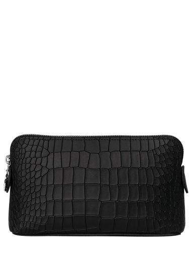 Longchamp Le pliage cuir croco Clutches Black