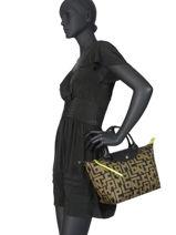 Longchamp Le pliage lgp Handbag Green-vue-porte