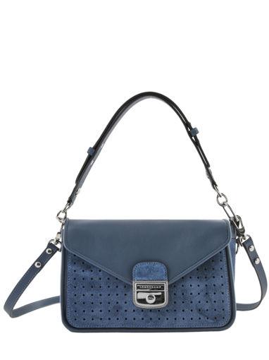 Longchamp Mademoiselle longchamp velours Hobo bag Blue