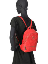 Backpack New Wave Guess Red new wave VG747532-vue-porte