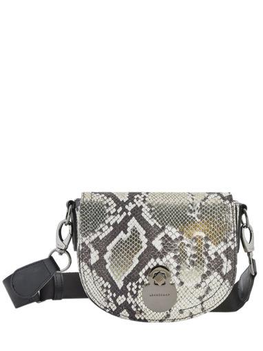 Longchamp Cavalcade python Messenger bag Black