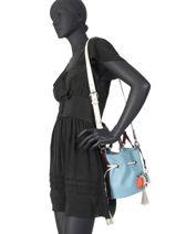 Small Leather Bucket Bag Premier Flirt Lancel Multicolor premier flirt A10530-vue-porte