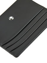 Leather Meisterstück 6cc Card Holder Montblanc Black meisterstÜck 106653-vue-porte