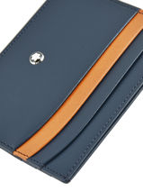 Leather Meisterstück 6cc Card Holder Montblanc Black meisterstÜck 118309-vue-porte