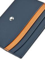 Leather Meisterstück 6cc Card Holder Montblanc Blue meisterstÜck 118309-vue-porte