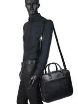 Leather Briefcase Sartorial Montblanc Black sartorial 113184-vue-porte
