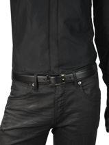 Ceinture Homme Réglable Cuir Montblanc Noir belts 116706-vue-porte