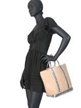 Le Cabas Moyen Paillettes Vanessa bruno Noir cabas 1V40413-vue-porte