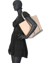 Medium+ Le Cabas Tote Bag Sequins Vanessa bruno Black cabas 1V40414-vue-porte