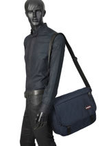 Sac Messenger Delegate+ Eastpak Bleu authentic K26E-vue-porte