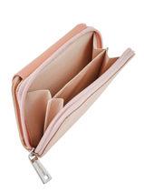 Wallet Maya Leather Lancaster Pink maya 117-03-vue-porte