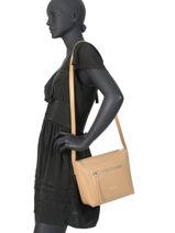 Shoulder Bag Foulonne Double Leather Lancaster Beige foulonne double 470-11-vue-porte