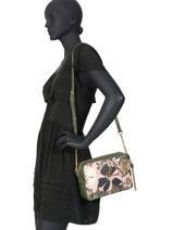Shoulder Bag Creativa Liu jo Green creativa AA0208-vue-porte