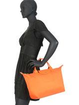 Longchamp Le pliage neo Sacs porté main Orange-vue-porte