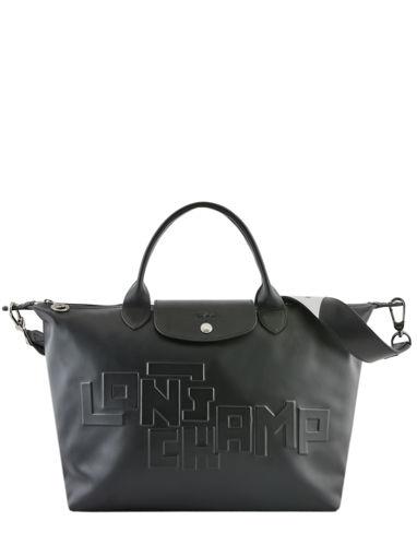 Longchamp Le pliage animation cuir estam Handbag Red