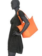 Longchamp Le pliage neo Besaces Orange-vue-porte