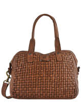 Leather Shoulder Bag Heritage Biba Brown heritage KA1