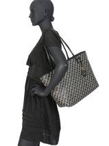 Sac Shopping Merrimack Lauren ralph lauren Noir merrimack 31783320-vue-porte