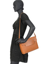 Leather Crossbody Bag N°2 Le Grand Archipel Brown numero 0N3-vue-porte