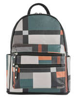 Backpack Graphique Miniprix Black EX1771
