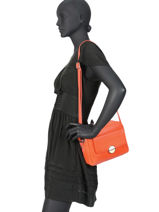 Sac Bandouliere Ilona Leather Fuchsia Orange ilona F9877-2-vue-porte