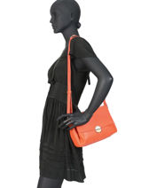 Sac Bandouliere Ilona Leather Fuchsia Orange ilona F9877-3-vue-porte