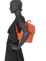 Backpack  Leather Milano Orange CA19067-vue-porte