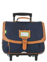 Wheeled Schoolbag 2 Compartments Tann's Black les unis 20-42111