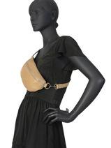 Leather Belt Bag Caviar Milano Black CA19091-vue-porte