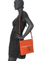 Crossbody Bag Leather Milano Orange CA19117-vue-porte