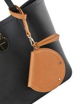 Longchamp Cavalcade Porte-monnaie Beige-vue-porte