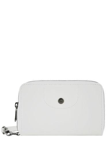 Longchamp Le pliage cuir Portefeuilles Blanc