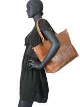 Leather Tote Bag River Milano Brown river RI191101-vue-porte
