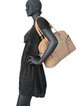 Shoulder Bag Pearl Liu jo Beige prez AA0190-vue-porte