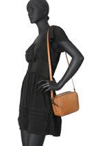 Leather Crossbody Bag Croco Milano Brown CR19118N-vue-porte