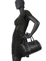 Sac à Main Soft Vintage Cuir Lancaster Noir soft vintage 577-03-vue-porte