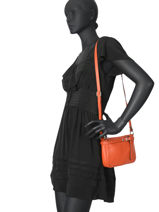 Crossbody Bag  Leather Milano Orange G1421-vue-porte