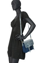 Crossbody Bag Maths Craie Blue maths MINIM-DR-vue-porte