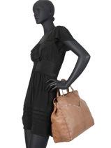 Sac Shopping Nathalie Cuir Pieces Marron nathali 17102051-vue-porte