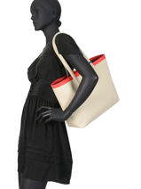 Shoulder Bag A4 Anna Fantaisie Lacoste Black anna fantaisie NF2994AS-vue-porte