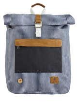 Backpack Tricolor Faguo Black stripes denim 20LU0101