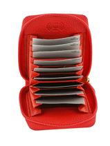 Porte-cartes 11 Fentes Cuir Crinkles Rouge caviar 14292-vue-porte