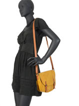 Sac Besace Brown Miniprix Jaune brown H6770-vue-porte