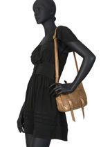 Sac Besace Bess Cuir Mila louise Marron vintage 3017X-vue-porte