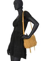 Sac Bandoulière Bess Cuir Mila louise Noir vintage 3017VBS-vue-porte